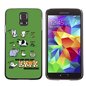 CaseCaptain Carcasa Funda Case - Samsung Galaxy S5 V SM-G900 / What Does The Fox Say ? /