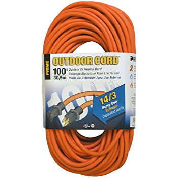 Prime Wire Amp Cable Ec501735 100 Foot 14 3 Sjtw Heavy Duty