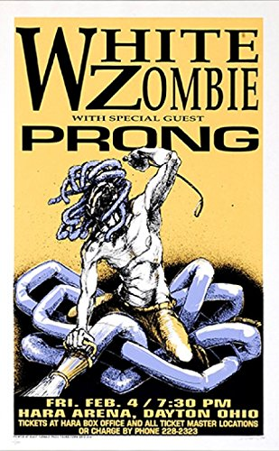 Derek Hess - White Zombie Signed Limited Edition Rock Concert Poster