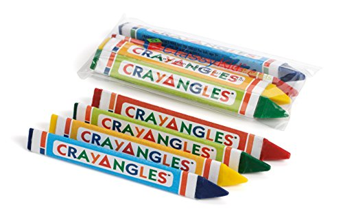 4pk Triangular Crayons, Cello Packed by Family Hospitality Group® Classy Kids® CrayAngles® (Image #2)