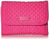 Vera Bradley Iconic RFID Riley Compact Wallet, Microfiber, Rose Petal