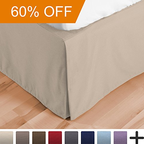 Bed Skirt Double Brushed Premium Microfiber, 15–Inch Tailo