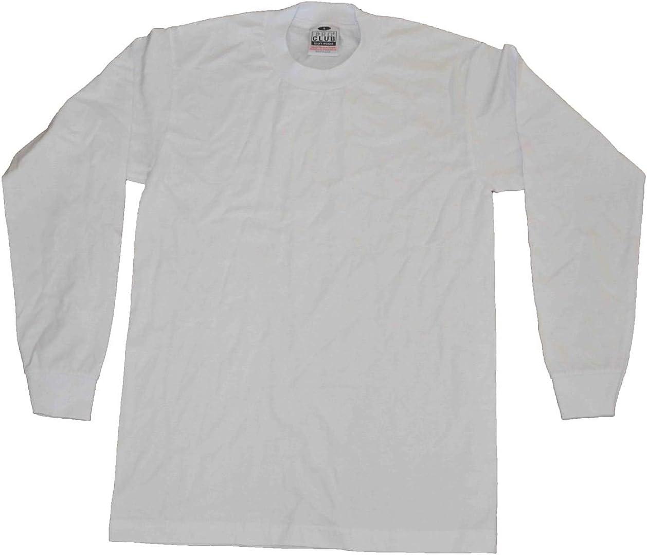 Pro Club Long Sleeve Shirt 100/%cotton Heavy Weight-black