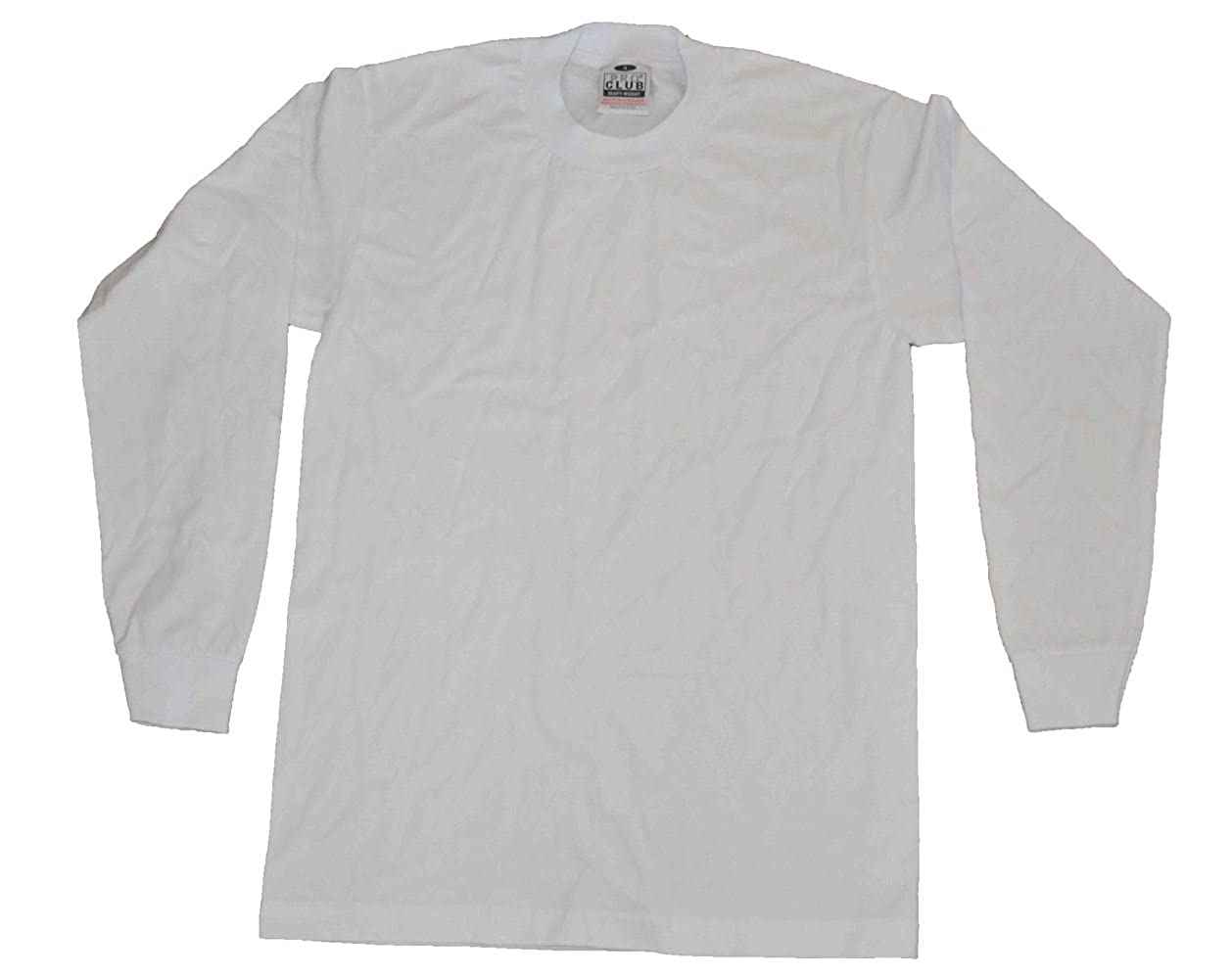 978d61123 Amazon.com: Pro Club Men's Pack of 6 Heavyweight Cotton Long Sleeve T-shirt  7xlarge (White): Clothing