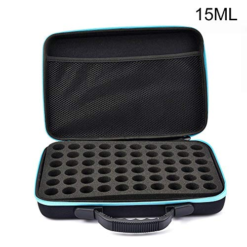 60 Slots Essential Oil Storage Bag Diamond Embroidery Box Painting Accessory Case Clear Plastic Beads Display Zipper Storage Bag