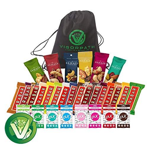 Ultimate Healthy Snacks Sampler (Including Larabar, Sahale & PUR Gum) Variety Pack of 30 with free Vigor Path Bag by VIGOR PATH (Image #7)
