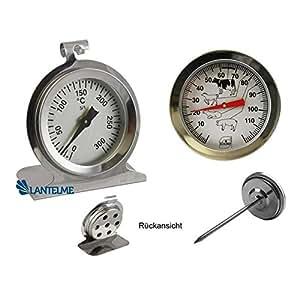 Lantelme 2857 termómetro de horno termómetro de horno de la hornada de la puntada