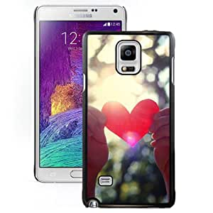 New Beautiful Custom Designed Cover Case For Samsung Galaxy Note 4 N910A N910T N910P N910V N910R4 With Love Light Shining Phone Case