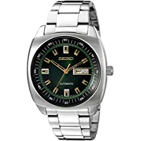 Seiko Men's SNKM97 Analog Green Dial Automatic Silver Stainless Steel Watch