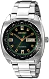 Seiko Men's SNKM97 Analog Green Dial Automatic Silver Stainless Steel...