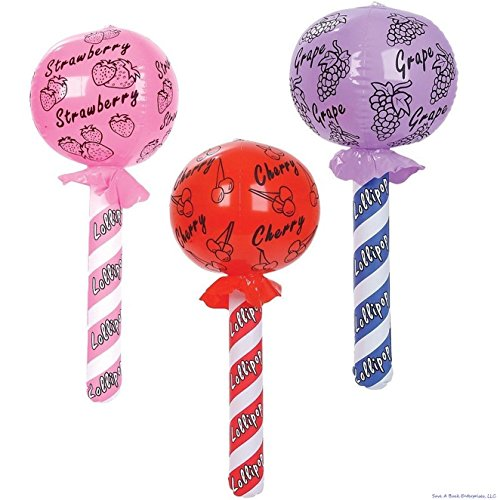 3 Pcs Lollipop Sucker Inflatable Candy Blow Up Lollypop Birthday Pool Party Float]()