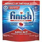 Finish Max In 1 Powerball, 67 Tabs, Dishwasher Detergent Tablets (Packaging May Vary)