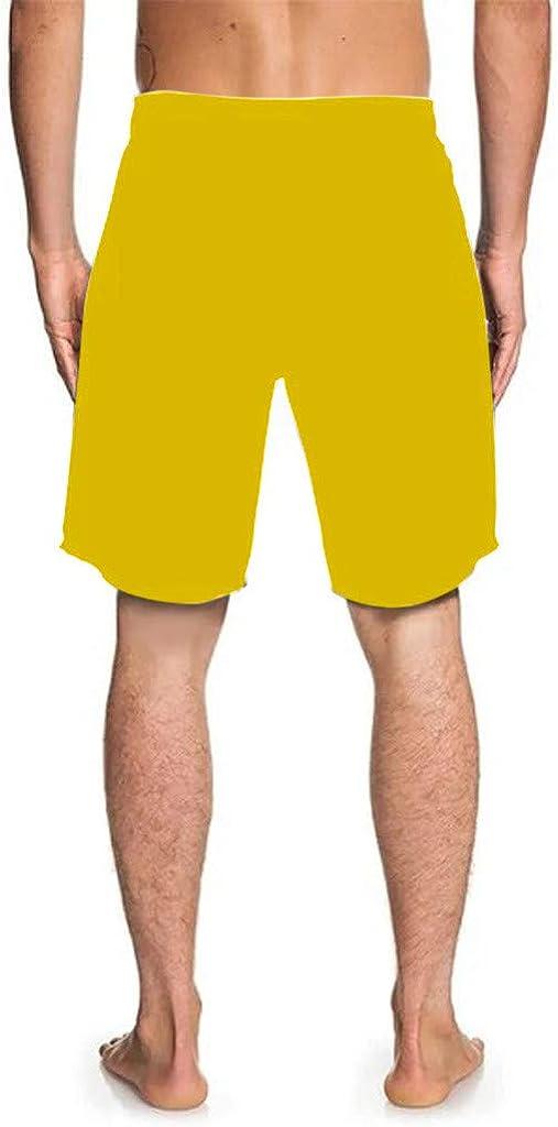 KESEELY Mens Casual Shorts Drawstring Elastic Pants Cock Printed Summer Beach Shorts Holiday Beachwear Swim Trousers Shorts