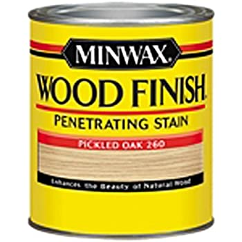 Minwax 226004444  Wood Finish Penetrating Interior Wood Stain, 1/2 pint, Pickled Oak