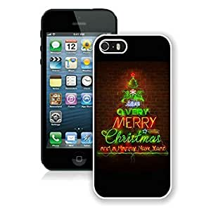 Iphone 5s case,iphone 5 case,Merry Christmas happy new year Iphone 5/5s Case White Cover