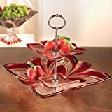 Fifth Avenue Crystal Aurora Ruby 2-Tier Server