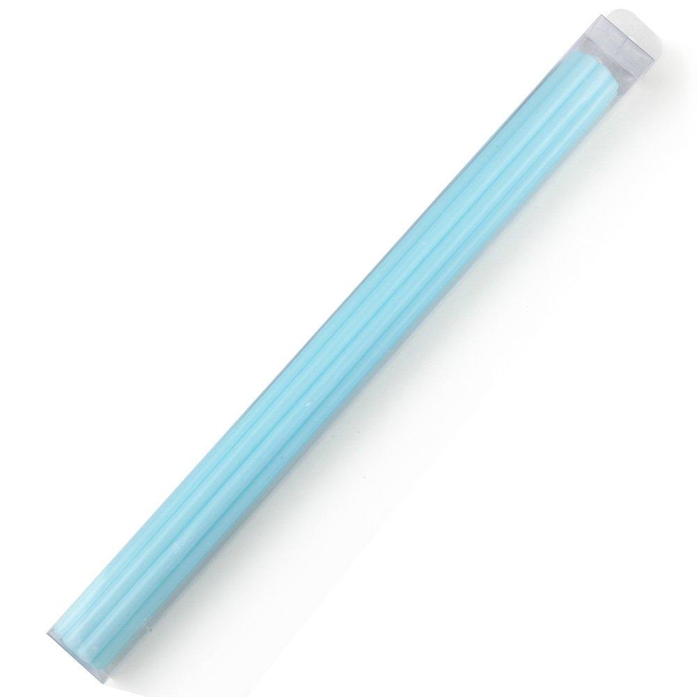 37.00x37.00x43.00 cm Pack de 1 Unidad Mopec Cirio Acanalado de Color Azul en una Caja Cera