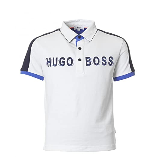 Hugo Boss - Polo - para niño Blanco blanco: Amazon.es: Ropa y ...