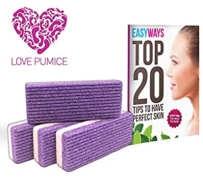 Love Pumice Stone for Feet, Hands and Body, (Pack of 4)