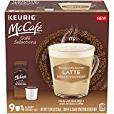 McCafe Cafe Selections Latte Coffee Keurig K Cup Pods & Froth Packets (9 Count)
