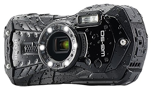 Ricoh 16 Waterproof Still/Video Camera Digital with 2.7' LCD, Black (WG-50 black)