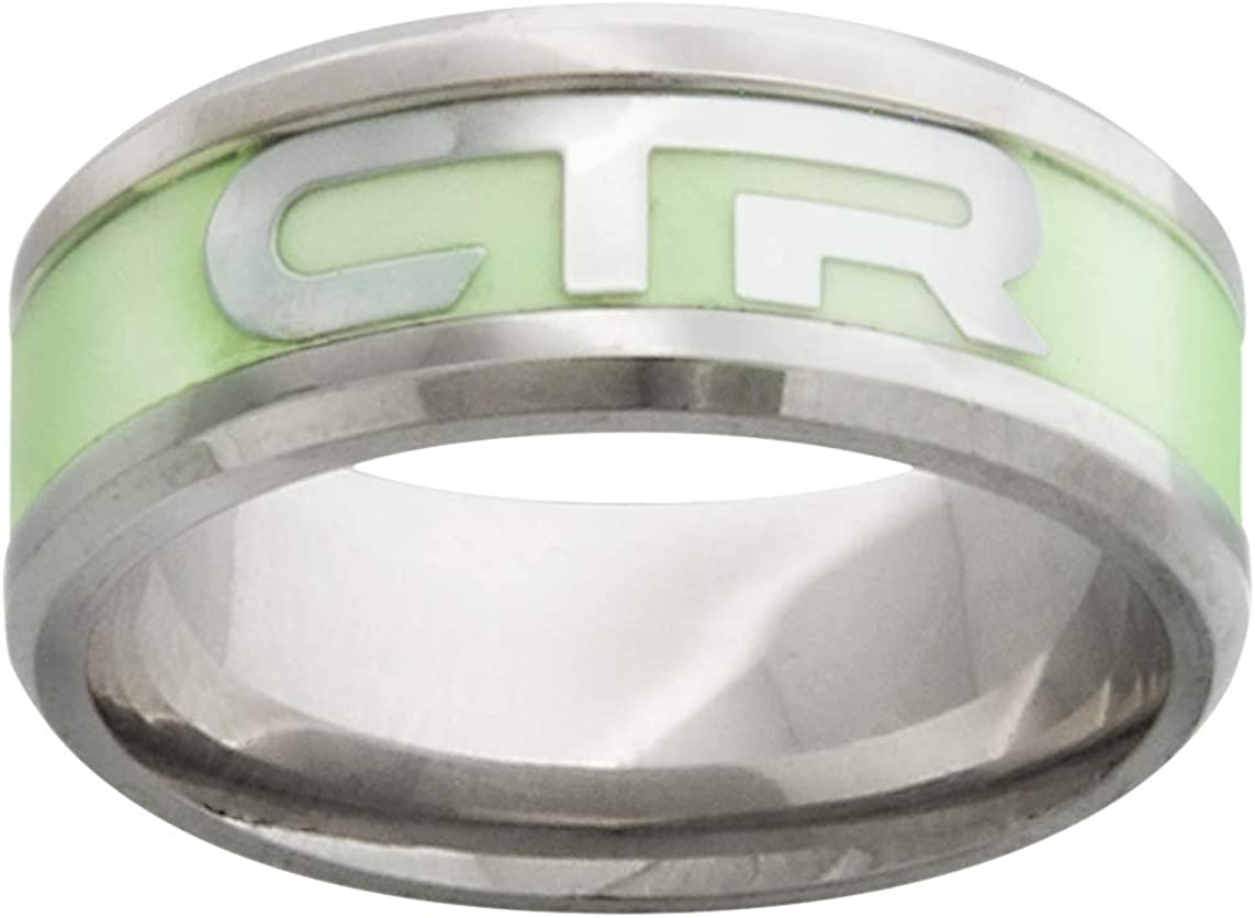 One Moment In Time J199 Size 8-12 Stainless Steel Illuminate Ring Mormon CTR LDS