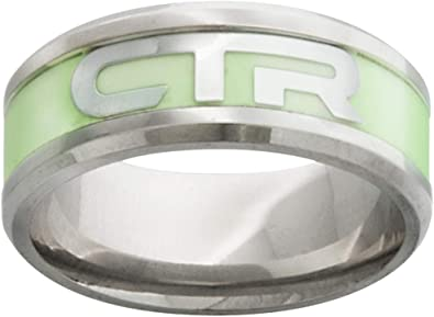 One Moment In Time J171 Size 8-13 Slice Stainless Steel Ring Mormon CTR LDS