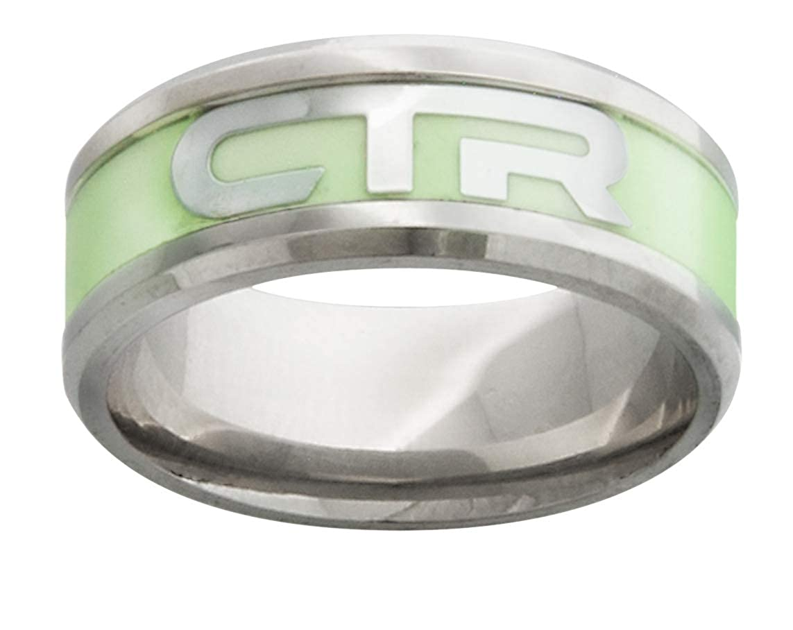 One Moment In Time J199 LDS Unisex CTR Ring Stainless Steel Illuminate Size 8-12