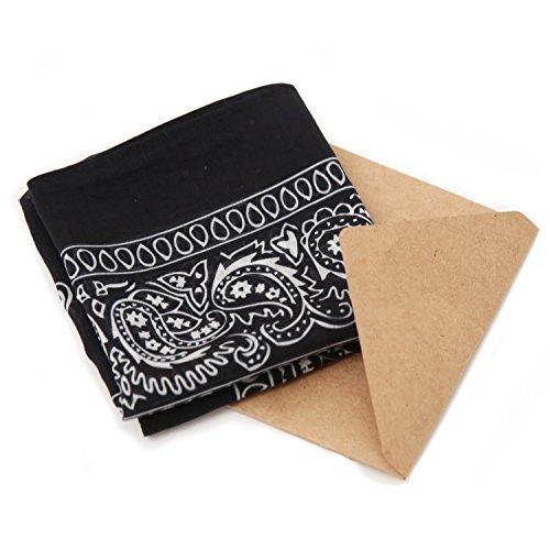 Unlabeled Unisex Cotton/Silk Paisley Bandana (Classic Bandana)