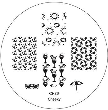 Amazon.com : CH36 Professional Nail Art Salon Quality Stamp Template ...