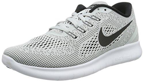 NIKE Women's Free RN Running Shoe White/Black/Pure Platinum 10