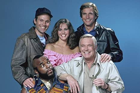 George Peppard Dirk Benedict Melinda Culea Dwight Schultz And Mr T In
