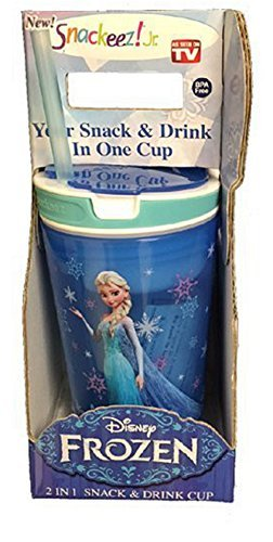(Snackeez Jr in Blue ~ Disney Elsa (2 in 1 Snack and Drink in One Cup))