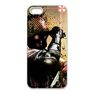 Cutomize Resident Evil Scratch-Resistant Case Soft TPU Skin for iphone 4/4s Cover - Black/White