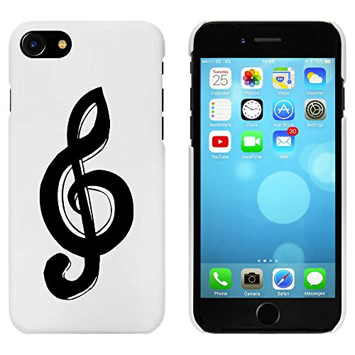 Blanc 'Clé de Sol' étui / housse pour iPhone 7 (MC00076122)