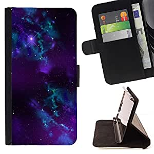 For HTC Desire 820 Purple Space Galaxy Style PU Leather Case Wallet Flip Stand Flap Closure Cover