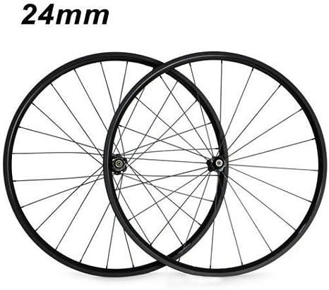 FidgetFidget Ruedas Clincher Tubular Bicicleta de Carbono Racing Bicicleta 24 mm Clincher: Amazon.es: Deportes y aire libre