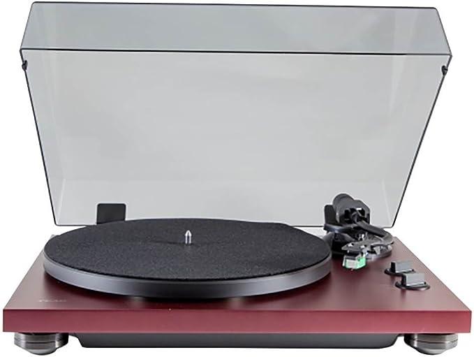 Amazon.com: TEAC – tn-400s Turntable (Color Rojo Burdeos ...