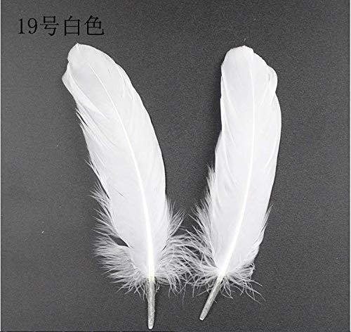 装飾用 羽根 羽 フェザー ガチョウの羽 羽根 工芸品アクセサリー 50枚入り 白と 黒選択可能