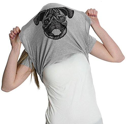 Crazy Dog TShirts - Womens Ask Me About My Pug Funny Dog Flip Up T shirt for Ladies - Camiseta Para Mujer