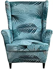 2 Stuks Fauteuilovertrek, Stretch Jacquard Wing Chair Slipcover Hoes Voor Fauteuil, Stoelhoes Bankovertrek Stoelovertrek Wingback Stoelhoezen Meubelbeschermer