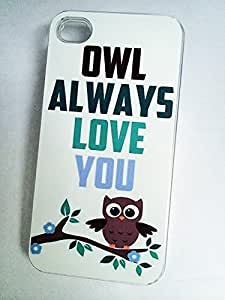 OWL ALWAYS LOVE YOU Phone Case for iPhone 4 4S CLEAR Plastic