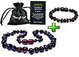 Baltic Amber Teething Necklace + Bracelet for Babies (Unisex) - Anti Flammatory, Drooling