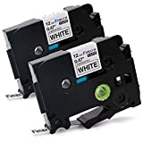 tze 231 brother - Fimax 2 Packs Standard Laminated Label Tapes Compatible For Brother P-Touch TZe-231 TZ231 TZe231 Black on White 0.47 Inches 26.2ft (12mm/8m)