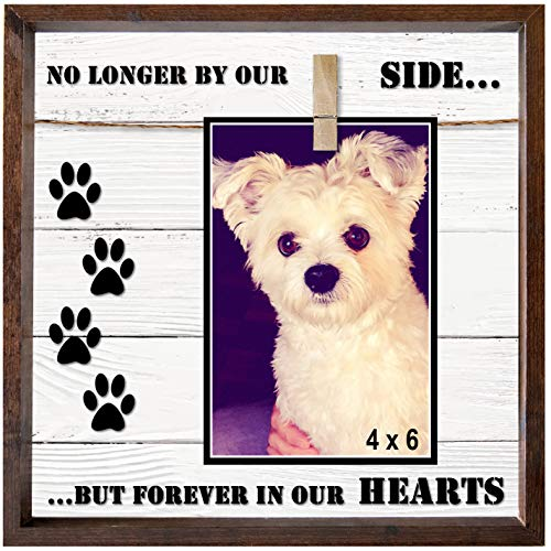 Pet Memorial Picture Frame. Very Versatile for 7x5, 4x6, 6x4 & Similar Sizes. Cleverly Designed Clip-on Memorial Pet Frame For Your Dog or Cat in Memory of Your Loss. A (Memorial Cottage)