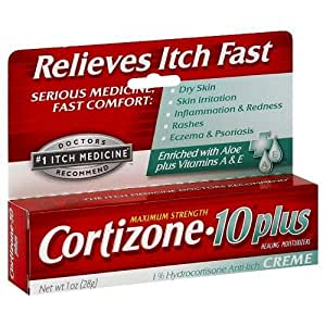 Cortizone 10 Plus Anti-Itch Cream -- 1 oz