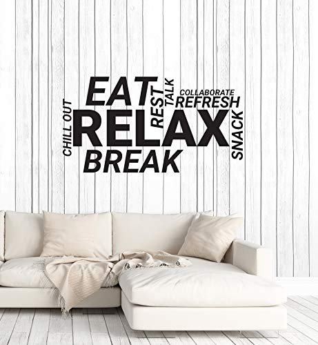 Vinyl Wall Decal Break Room Office Words Cloud Decoration Idea Stickers Mural Large Decor (ig6013) Black]()