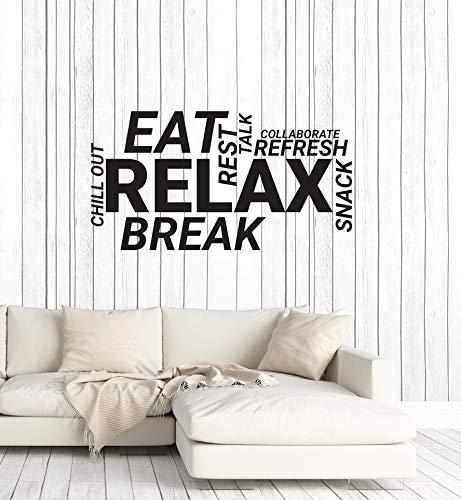 Vinyl Wall Decal Break Room Office Words Cloud Decoration Idea Stickers Mural Large Decor (ig6013) -