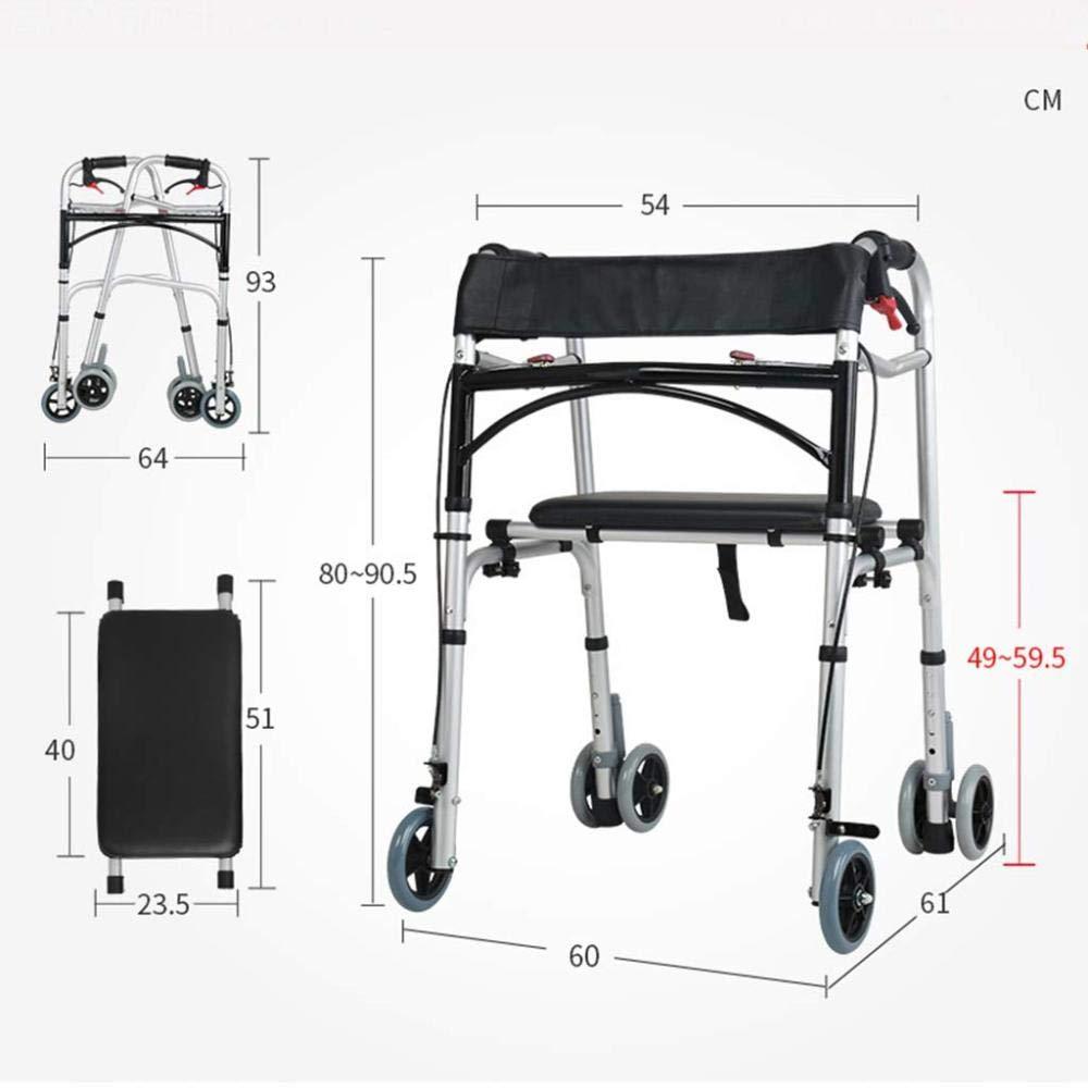 WXJWPZ Caminante Multifuncional De 4 Ruedas para Ancianos con ...