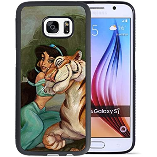 Aladdin Samsung Galaxy S7 Case, Onelee[Neverfade]Disney Cartoon Movie Aladdin Jasmine Samsung Galaxy S7 Case Black TPU Case,[Scratchproof][Drop Protection]for Sales